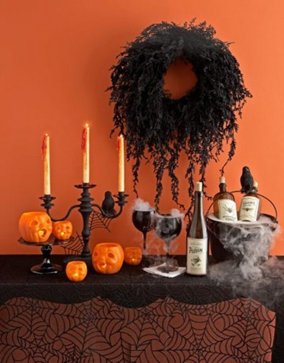 Halloween Table Centerpieces  43 Cool Halloween Table Décor Ideas DigsDigs