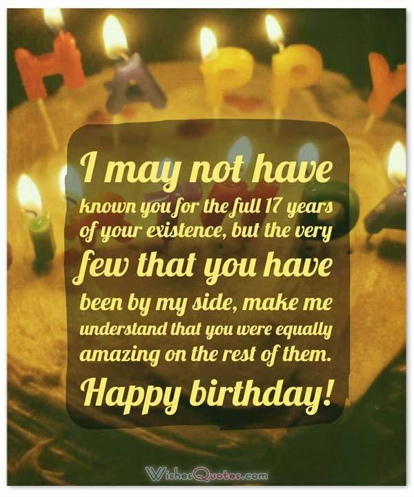 Happy 17Th Birthday Quotes  Heartfelt 17th Happy Birthday Wishes and