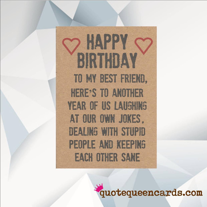 Happy Birthday Friend Funny  Happy Birthday BEST FRIEND Funny Birthday Card For Friend