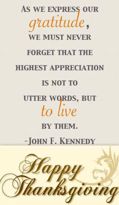 Happy Thanksgiving Blessings Quotes  Gratitude