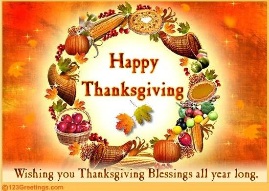 Happy Thanksgiving Blessings Quotes  84 best images about Greetings for all Joyous Occasions