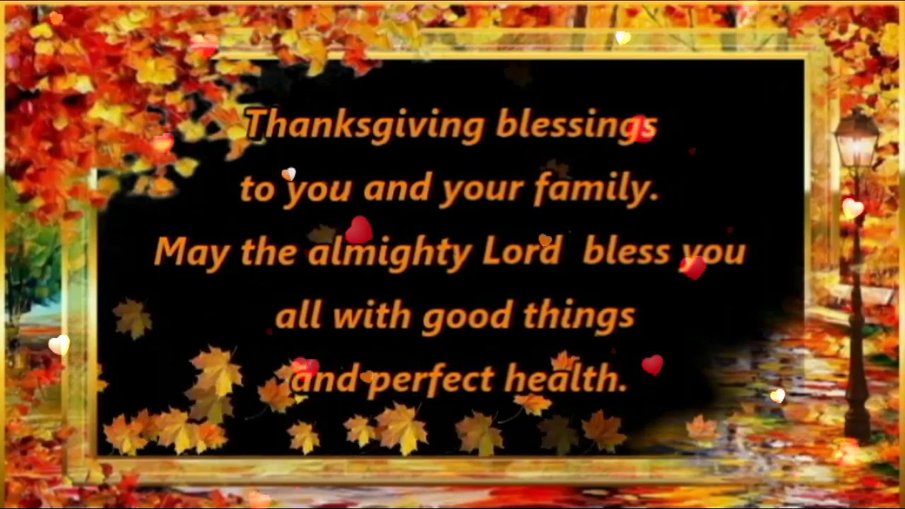 Happy Thanksgiving Blessings Quotes  Happy Thanksgiving Wishes Greetings Blessings Prayers Sms
