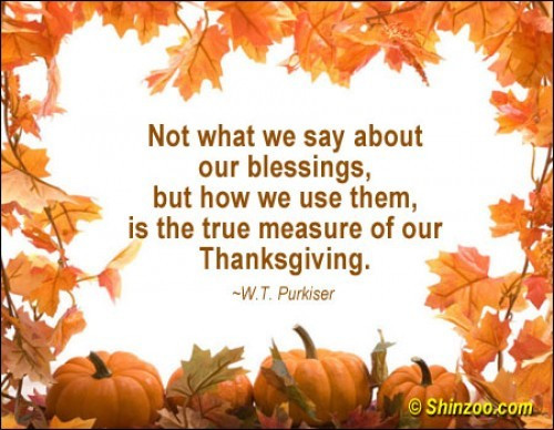 Happy Thanksgiving Blessings Quotes  thanksgiving inspirational quotes