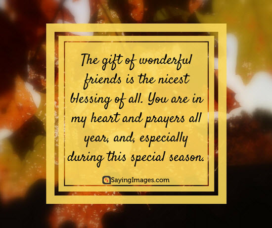 Happy Thanksgiving Quotes For Friends  Best Thanksgiving Wishes Messages & Greetings 2017