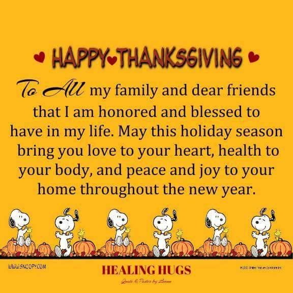 Happy Thanksgiving Quotes For Friends  Happy Thanksgiving To All My Family And Dear Friends