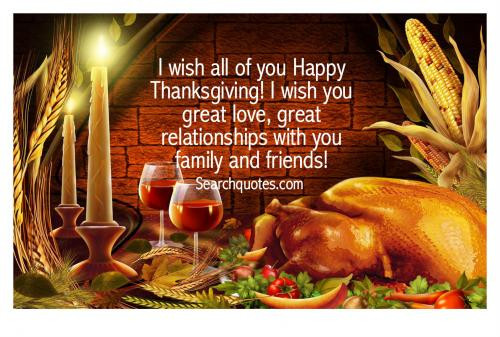 Happy Thanksgiving Quotes For Friends  Family And Friends Quotes Quotations & Sayings 2019