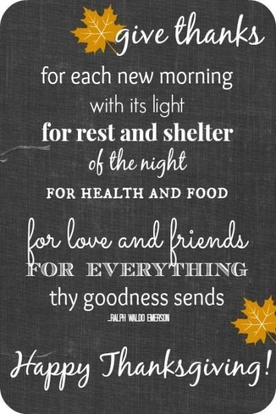 Happy Thanksgiving Quotes For Friends  Give Thanks For Each New Morning Happy Thanksgiving