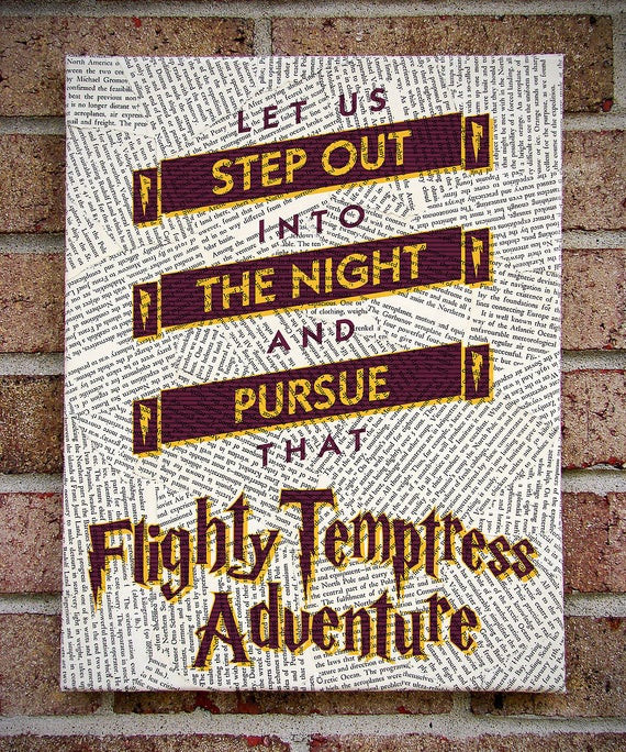 Harry Potter Graduation Quotes  Harry Potter Quote Canvas Wall Art Let Us Step by