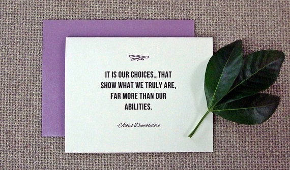Harry Potter Graduation Quotes  Inspirational Card for New Graduates from