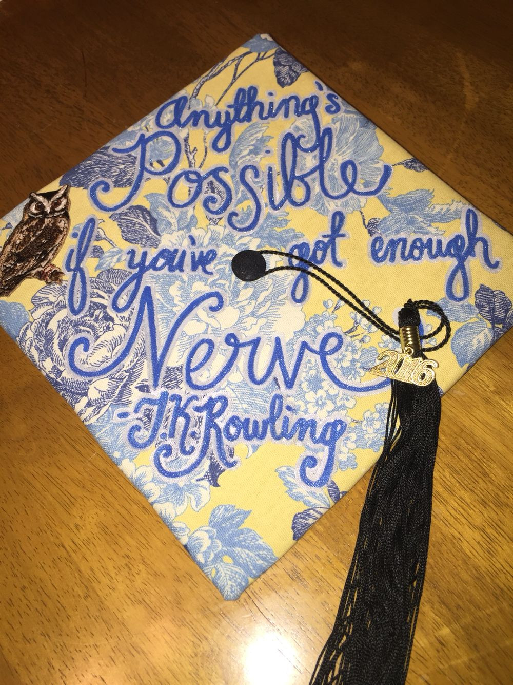 Harry Potter Quotes For Graduation  Harry Potter graduation cap Love quotes from J K