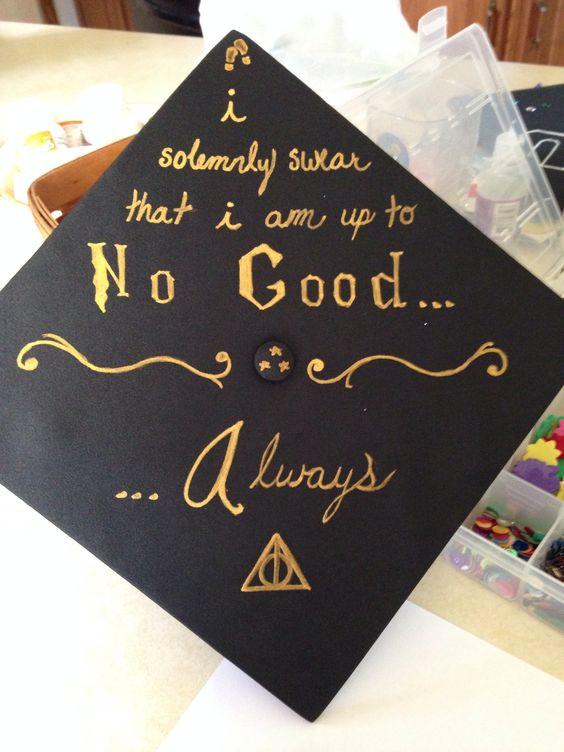 Harry Potter Quotes For Graduation  Graduation Cap HP Style