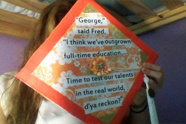 Harry Potter Quotes For Graduation  21 Magical DIY Harry Potter Graduation Caps All