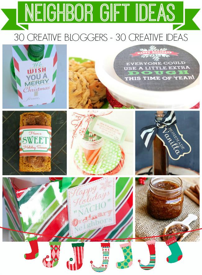 Holiday Gift Ideas For Neighbors  Printable Cookie Dough Holiday Gift Tag Neighbor Gifts
