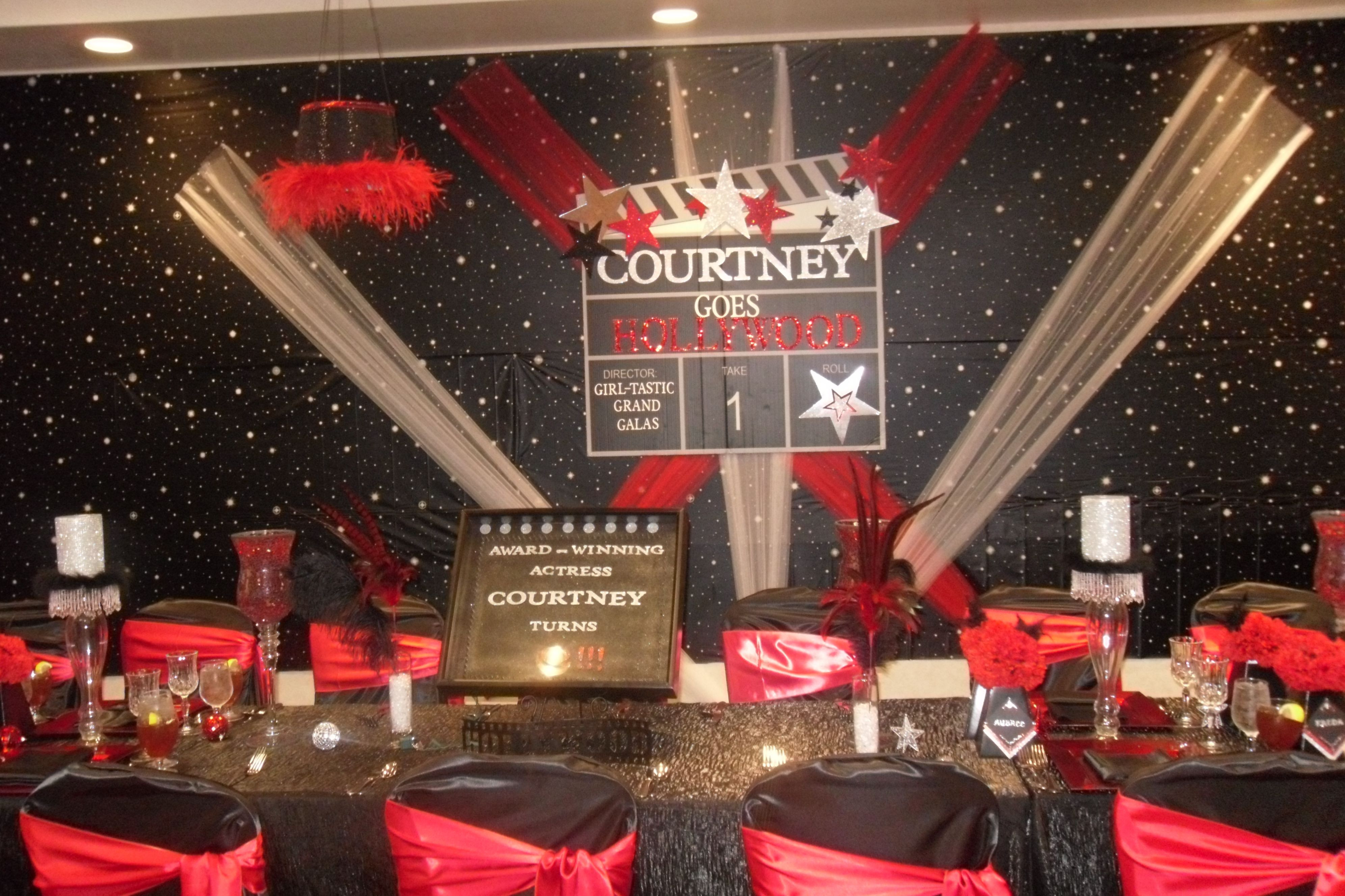 Hollywood Birthday Party Ideas  Hollywood party on Pinterest
