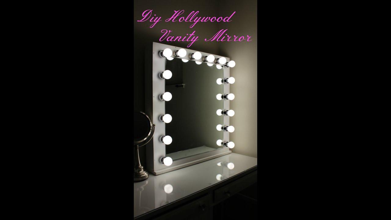 Hollywood Vanity Mirror DIY  DIY Hollywood Vanity Mirror With Lights