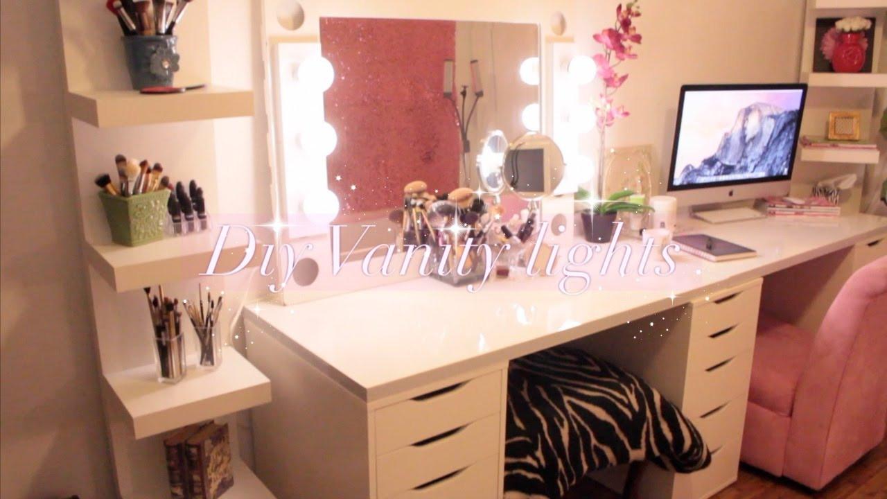 Hollywood Vanity Mirror DIY  DIY Hollywood Vanity Lights Mirror