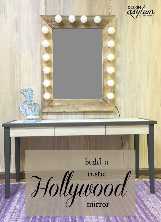 Hollywood Vanity Mirror DIY  DIY Rustic Hollywood Mirror