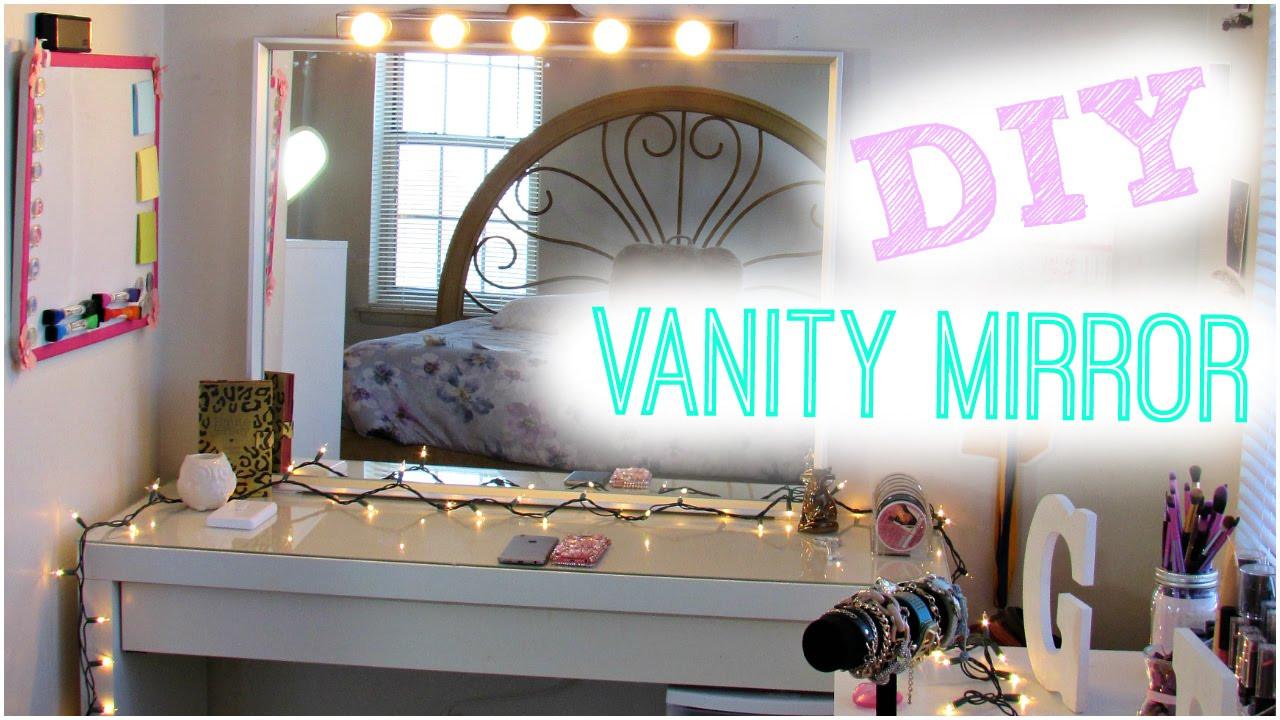 Hollywood Vanity Mirror DIY  DIY Hollywood Vanity Light Mirror