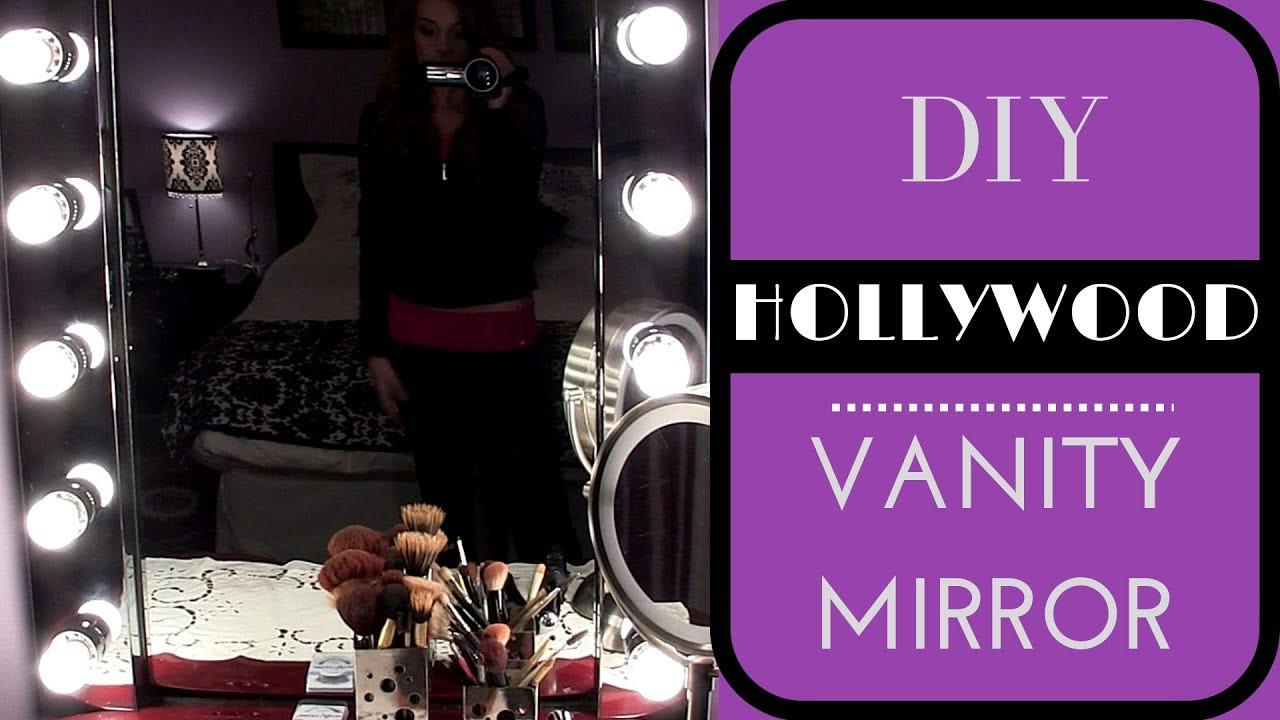 Hollywood Vanity Mirror DIY  DIY Build your own Hollywood Vanity Mirror EASY