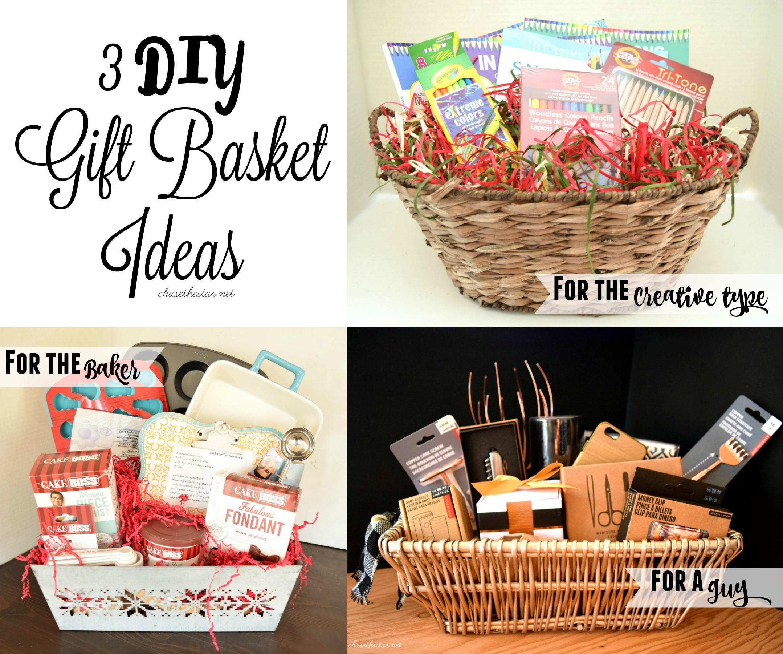 Home Made Christmas Gift Basket Ideas  3 DIY Gift Basket Ideas