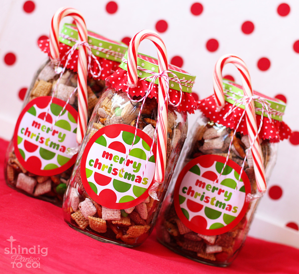 Homemade Christmas Candy Gift Ideas  How To Make Handmade Chex Mix Holiday Gifts & Bonus Free