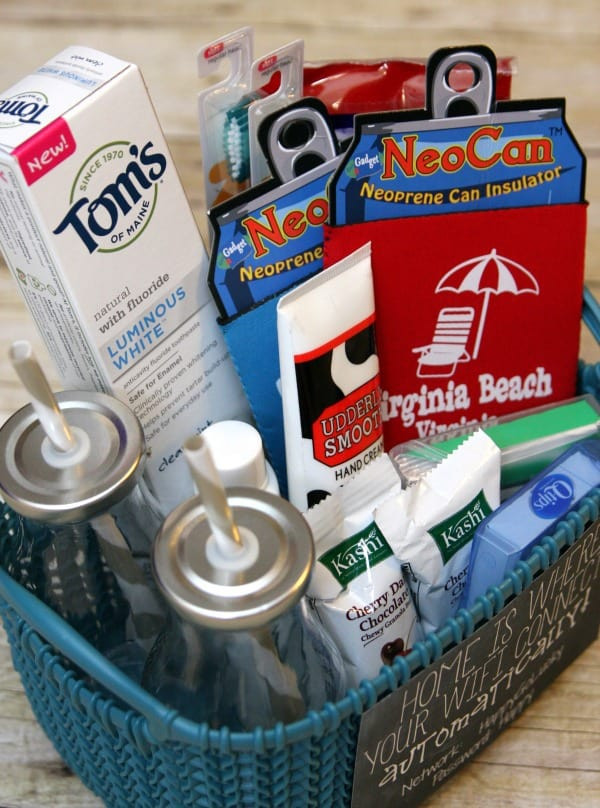 Houseguest Thank You Gift Ideas  House Guest Gift Basket Happy Go Lucky