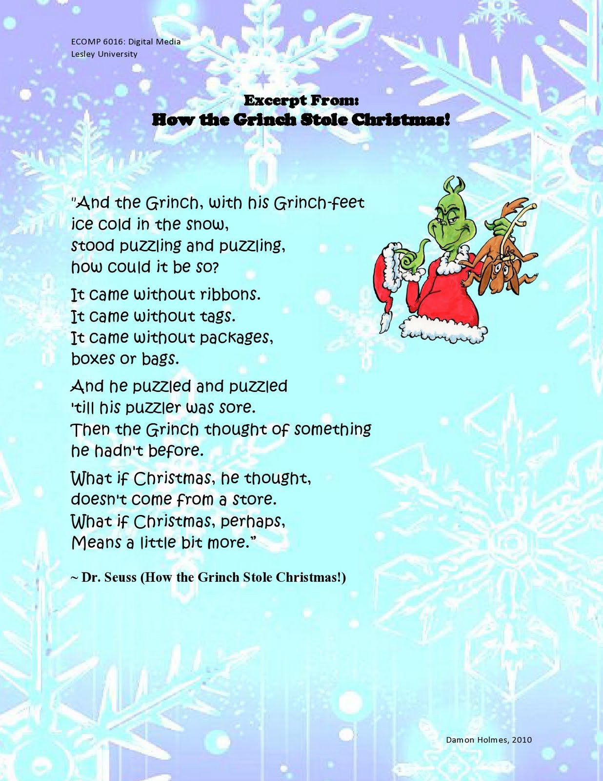 How The Grinch Stole Christmas Book Quotes  How the Grinch Stole Christmas Quotes QuotesGram