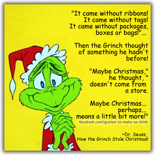 How The Grinch Stole Christmas Book Quotes  Grinch