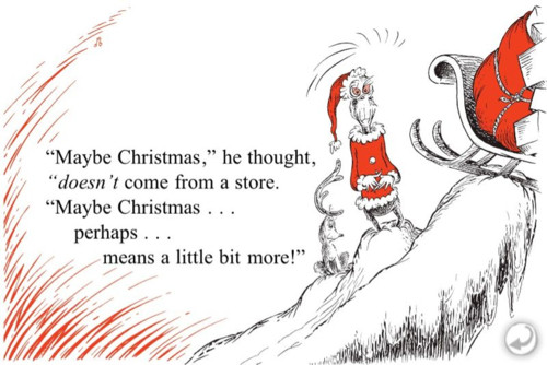 How The Grinch Stole Christmas Book Quotes  Eyes wide…at least on one side