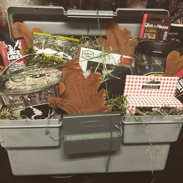 Hunting Gift Basket Ideas  Father s Day t basket for an outdoorsman who loves camo