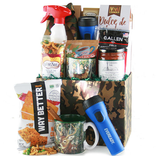 Hunting Gift Basket Ideas  Fathers Day Gift Baskets A Hunting We Will Go Hunting