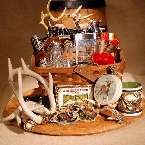Hunting Gift Basket Ideas  The Sportsman s Deluxe Basket Hunting Pinterest