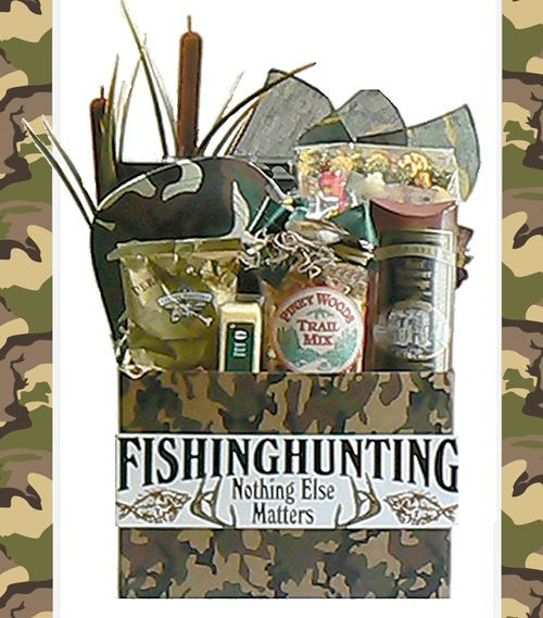 Hunting Gift Basket Ideas  Hunting Theme Gifts Basket Hunting Themed Gift Baskets
