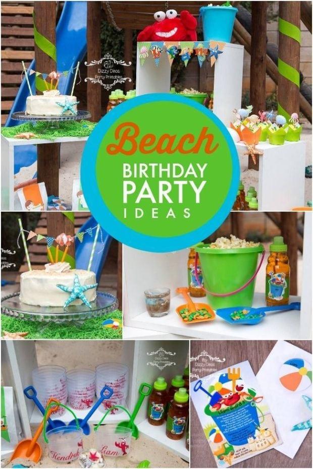 Ideas For A Beach Theme Party  A Boy s Beach Themed 3rd Birthday Party