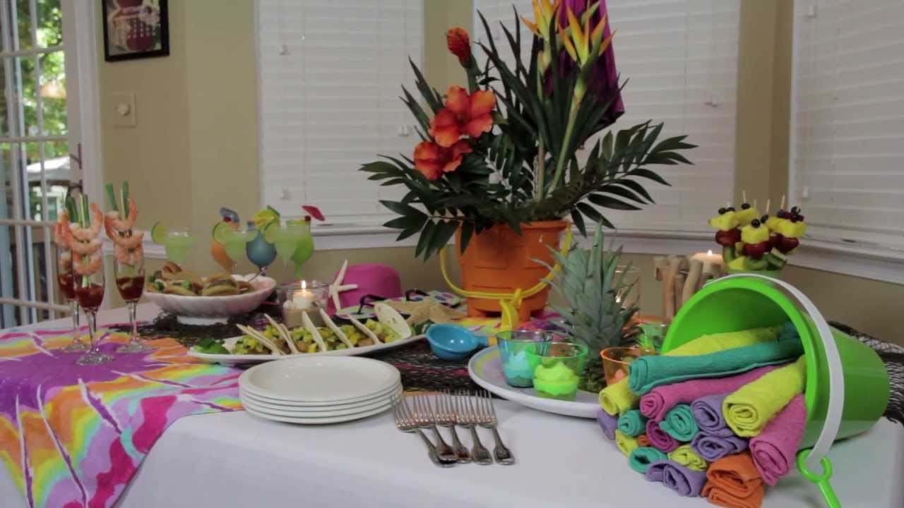 Ideas For A Beach Theme Party  How to Make Indoor Beach Party Decorations