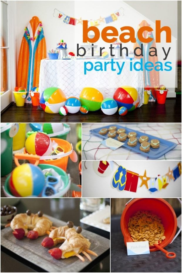 Ideas For A Beach Theme Party  A Boy's Beach Birthday Party Spaceships and Laser Beams