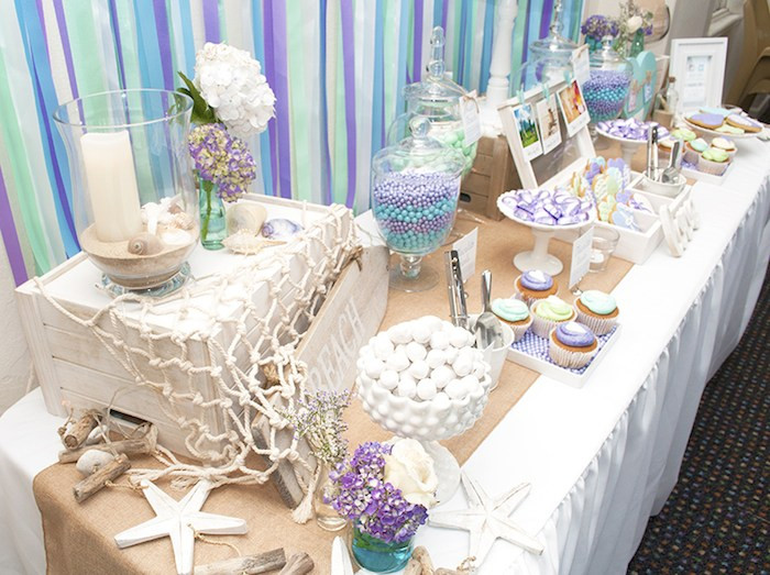 Ideas For A Beach Theme Party  Kara s Party Ideas Beach Themed Engagement Party Planning