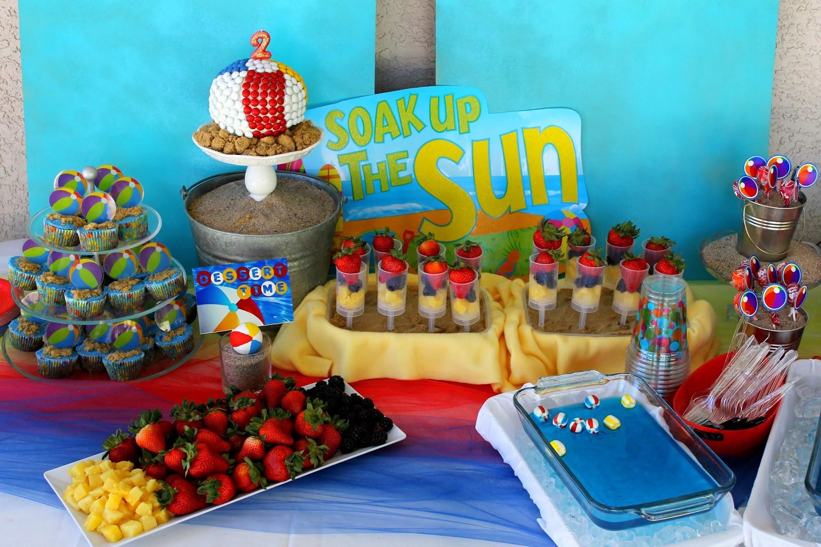 Ideas For A Beach Theme Party  Honey Crust Hank s Beach Ball Birthday Bash