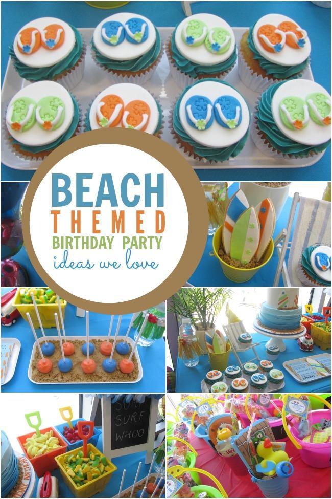 Ideas For A Beach Theme Party  Surf Sand and Fun A Boy s Beach Themed Birthday Party
