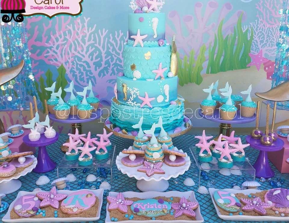 "Ideas For A Mermaid Party  Mermaids Birthday ""Kristen Mermaid Party"" in 2019"