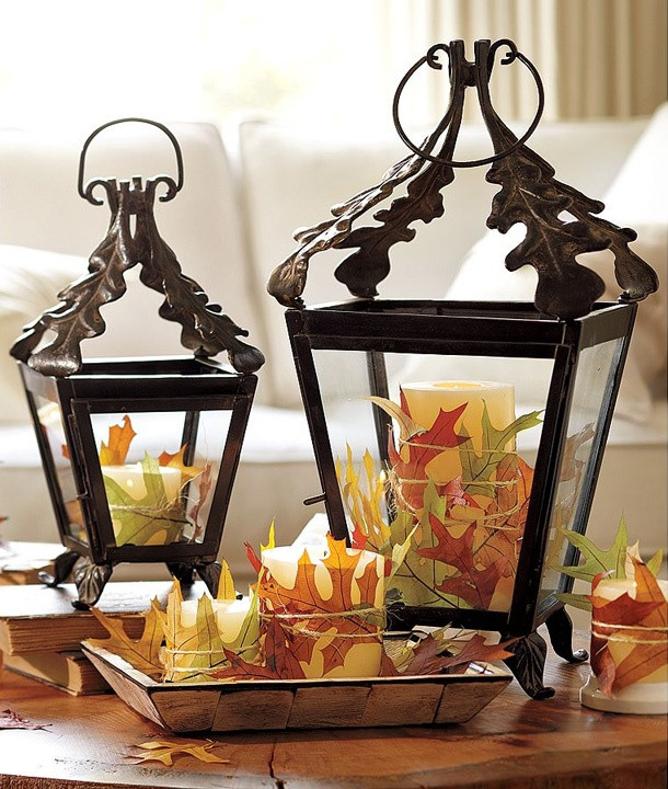 Indoor Fall Decorating Ideas  50 Fall Lanterns For Outdoor And Indoor Décor