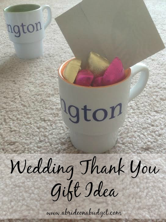 Inexpensive Thank You Gift Ideas  Wedding Thank You Gift Idea For under $5