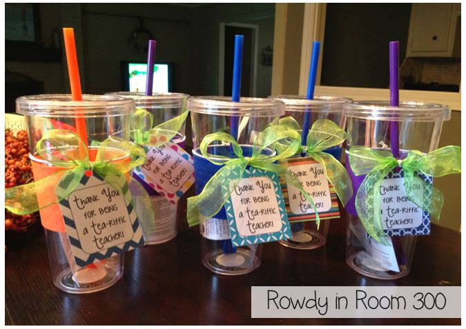 Inexpensive Thank You Gift Ideas  Tea riffic Rowdy in Room 300