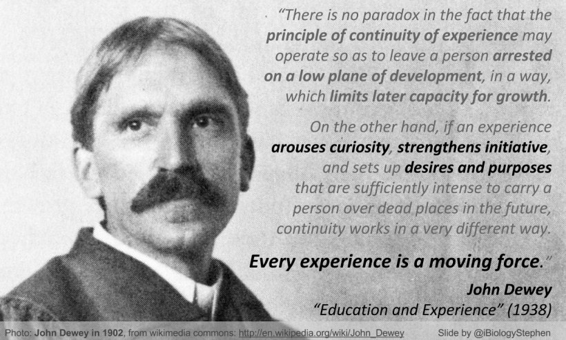 John Dewey Quotes On Education  Posters