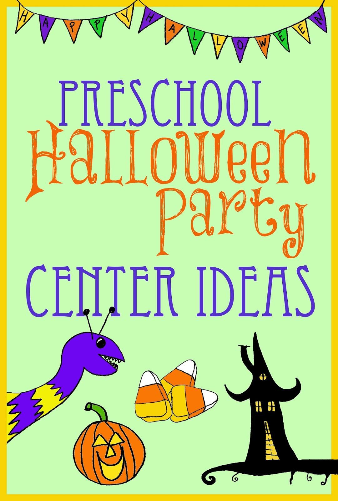Kindergarten Halloween Party Ideas  Halloween Party Center Ideas for Preschool Kindergarten