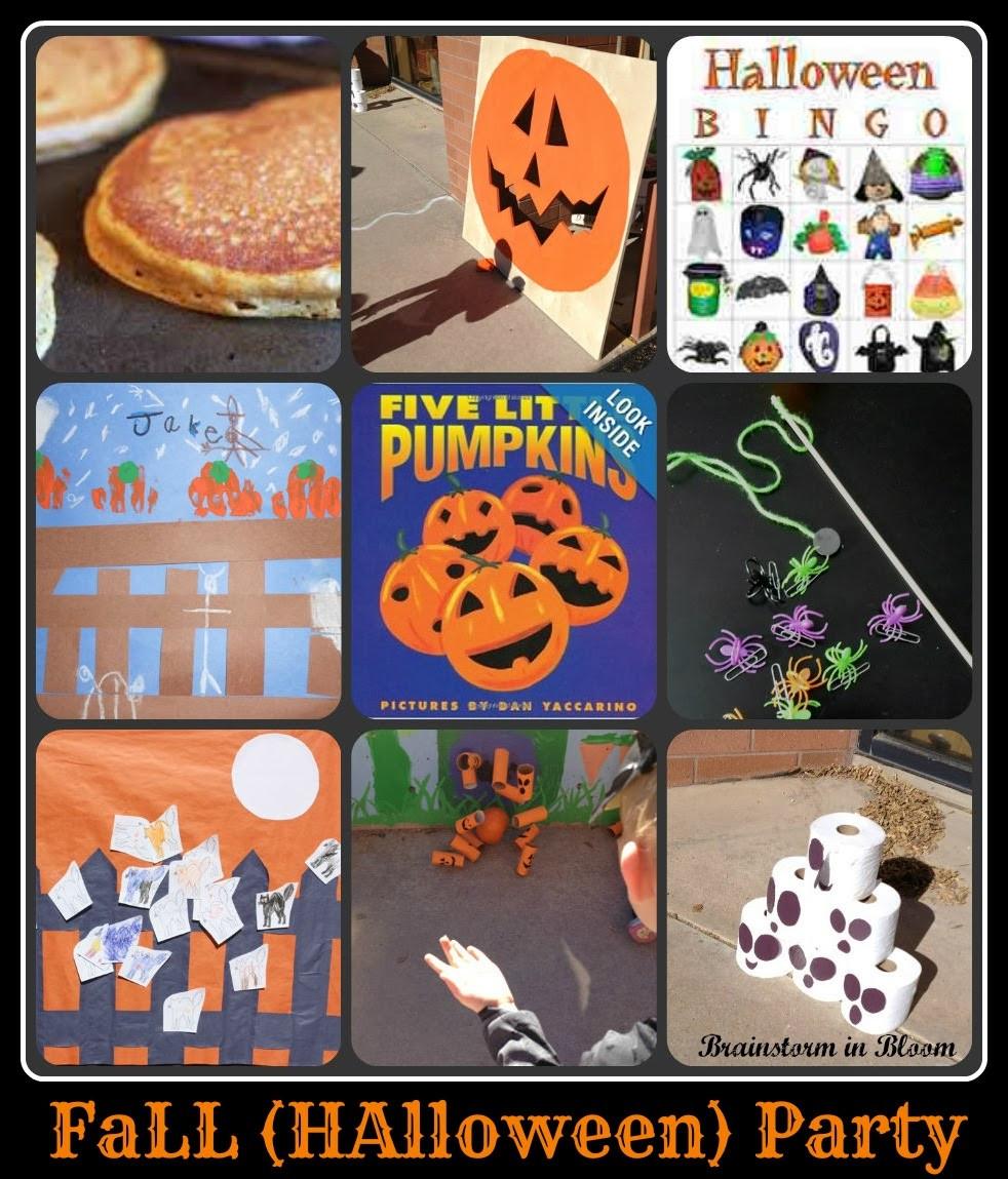 Kindergarten Halloween Party Ideas  Brainstorm in Bloom Fall Halloween Party Bouquet of Ideas