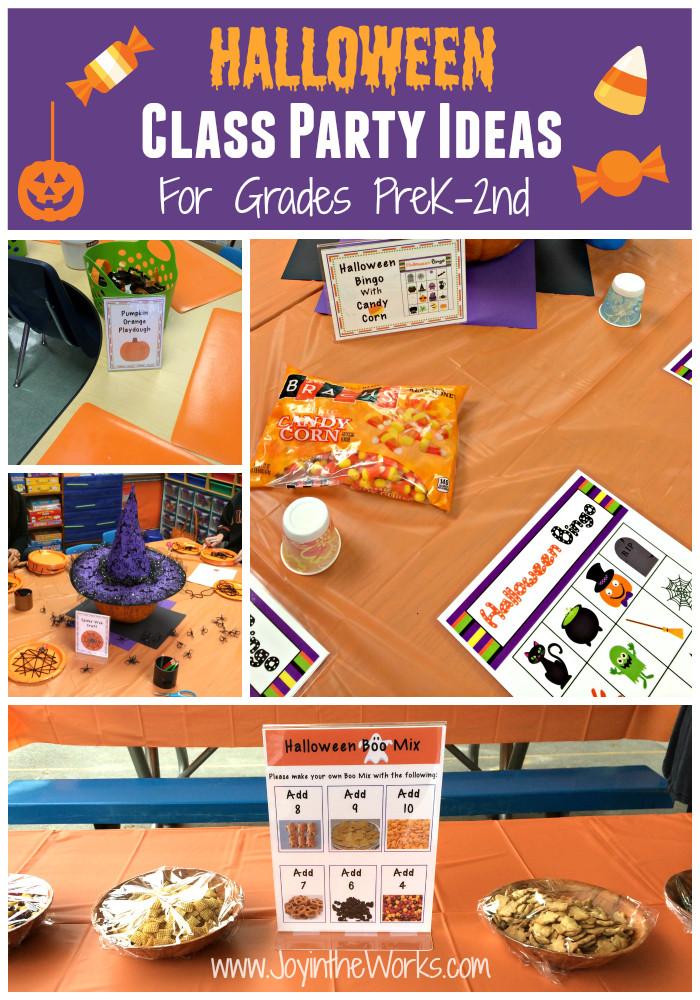 Kindergarten Halloween Party Ideas  Halloween Class Party Ideas Grades PreK 2nd Joy in the Works