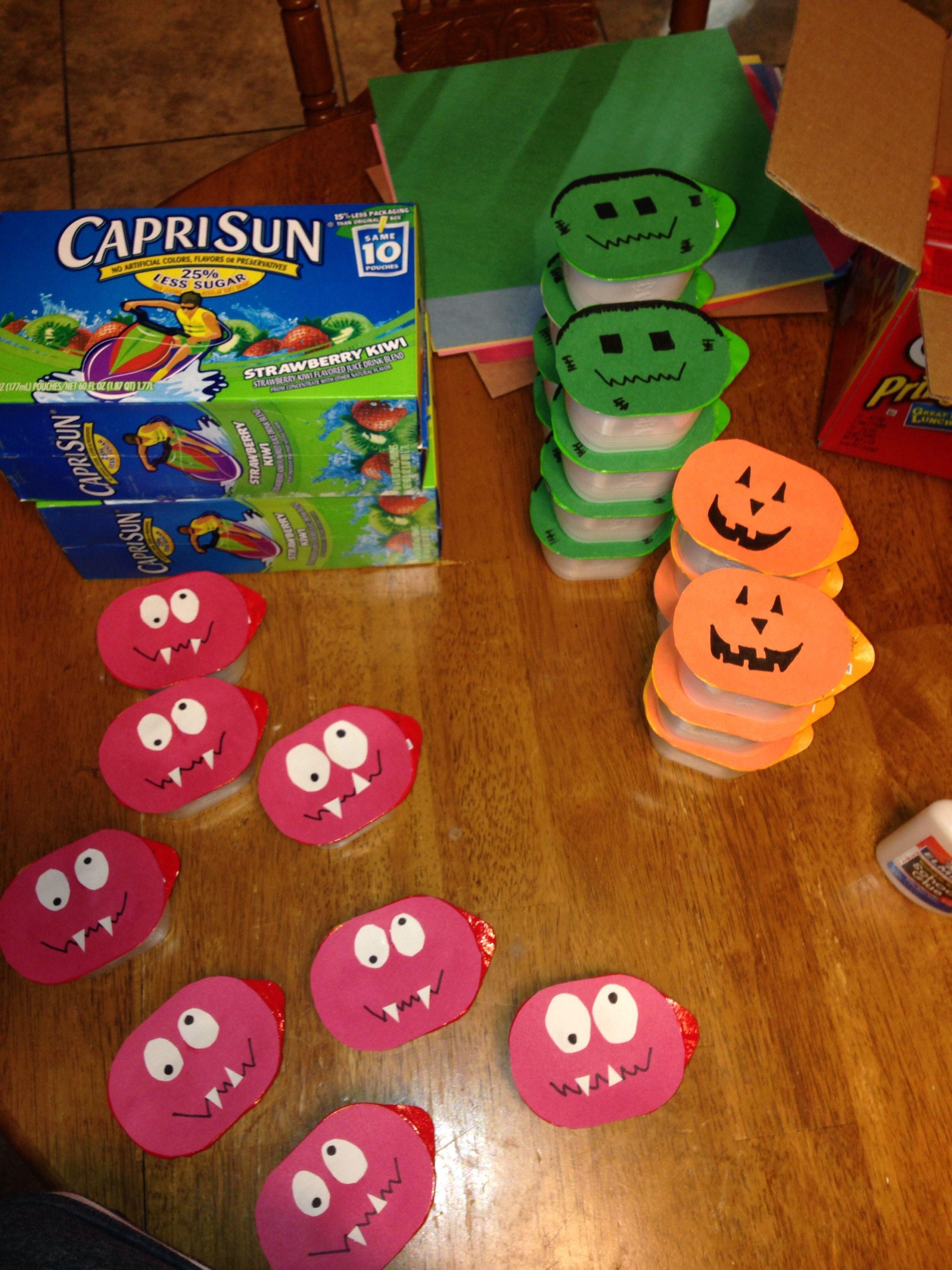 Kindergarten Halloween Party Ideas  Casen s Preschool Snacks Halloween Individual Pringles