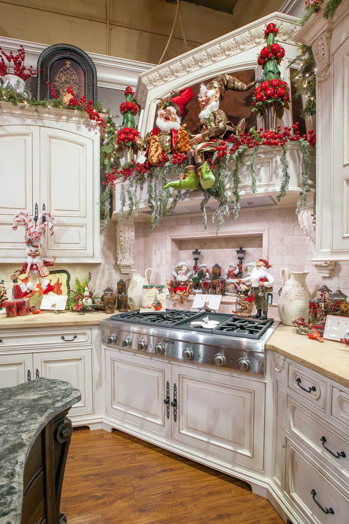 Kitchen Cabinet Christmas Decorating Ideas  Christmas Home Decor LINLY DESIGNS