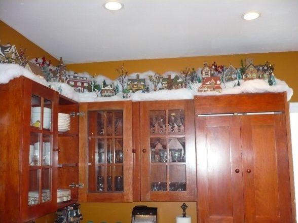 Kitchen Cabinet Christmas Decorating Ideas  Christmas Kitchen Cabinets Christmas on top of the
